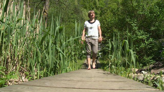 Le sentier pieds nus à Rebeuvelier dans le Jura
