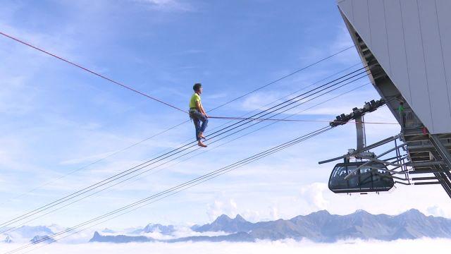 The Highline Extrême au sommet du Moleson
