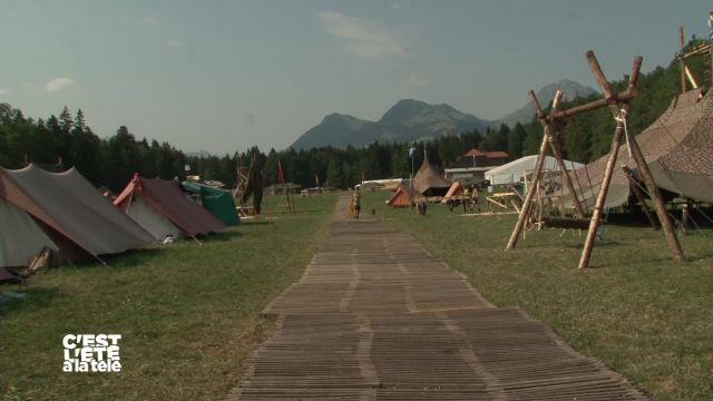 La Télé en camp scout dans les bois de Bouleyres