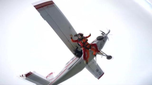 La Télé en parachute à Yverdon