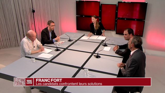 Quatre candidats aux élections débattent du franc fort