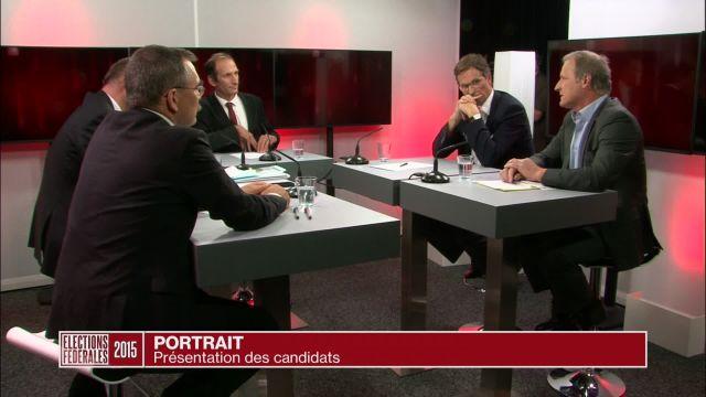Quatre candidats au Conseil national se présentent.