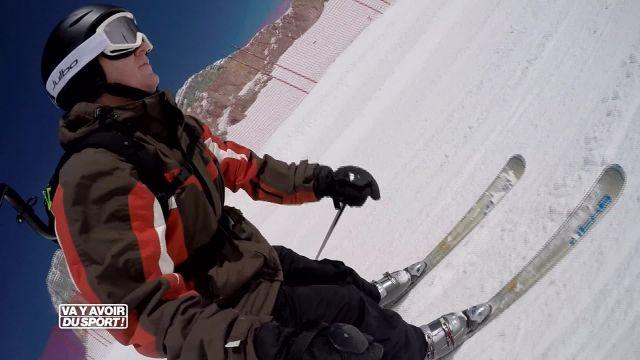 Roland Guex profite du Giant X Tour pour tester le skicross