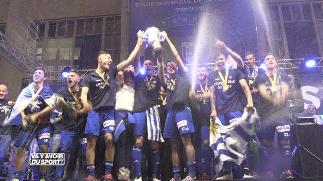 Lausanne-Sport célèbre son titre avec ferveur