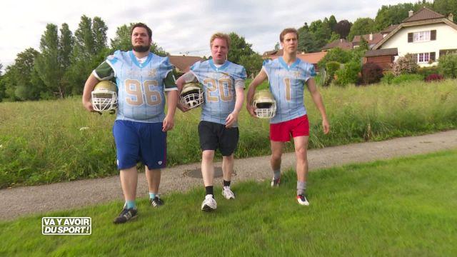 Roland, Anthony et Loïc testent le football américain