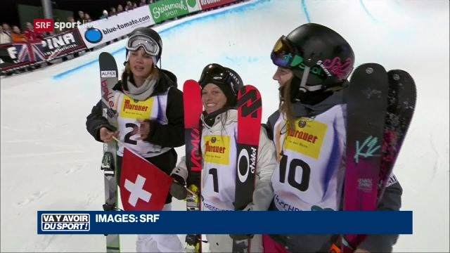 Virginie Faivre range les skis