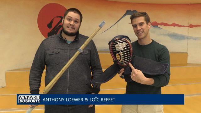 Anthony et Loïc testent le kendo