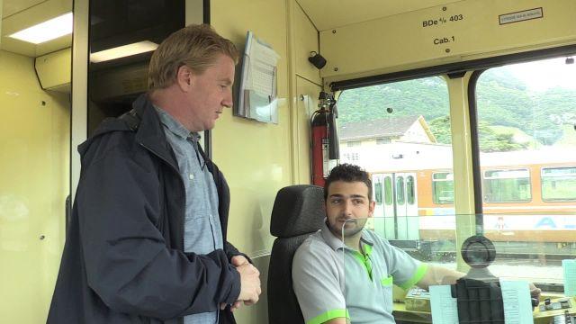 Roland a testé le métier de conducteur de train