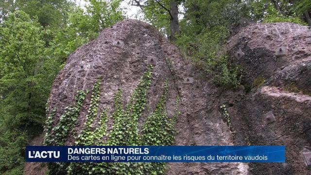 Une carte des dangers naturels du canton de Vaud