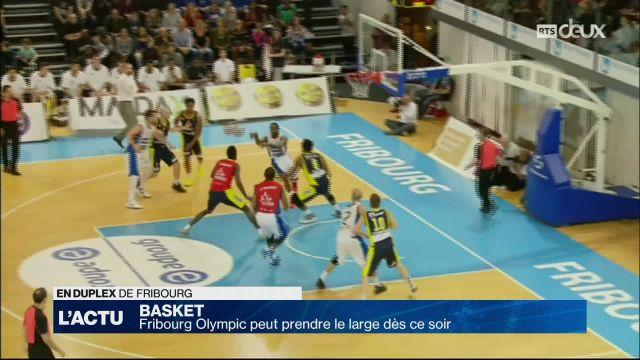 Basket, Fribourg Olympic peut s'envoler dès ce soir
