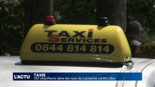120 taxis dans les rues de Lausanne contre Uber