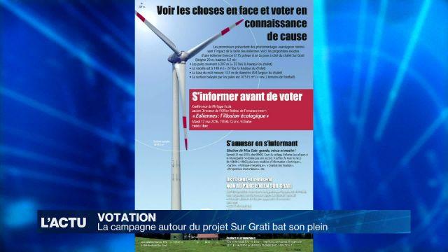 Le projet éolien Sur Grati divise la commune de Vallorbe