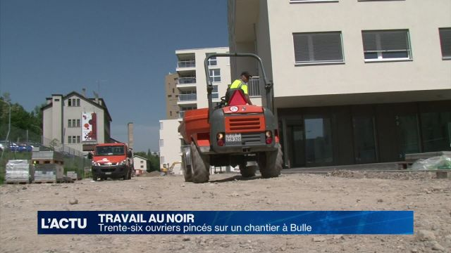 Travail au noir: une trentaine d'ouvriers soupçonnés à Bulle