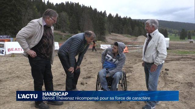 Benoit Thévenaz tétraplégique et motard