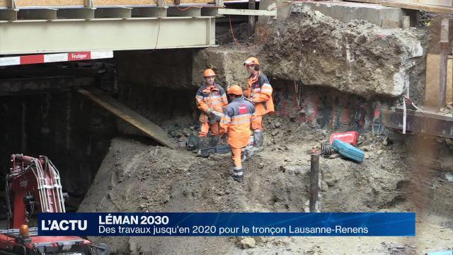 Des travaux jusqu'en 2020 sur le tronçon Lausanne-Renens