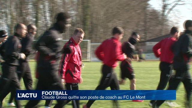 Football, le FC le Mont change d'entraîneur