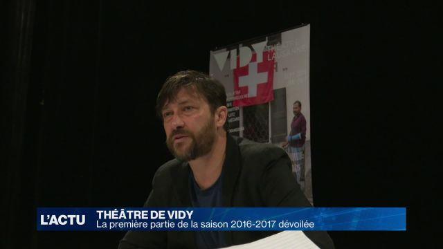 Théâtre de Vidy: la première partie de la saison 2016-2017