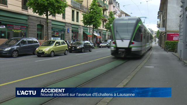 Nouvel incident sur l'avenue d'Echallens à Lausanne