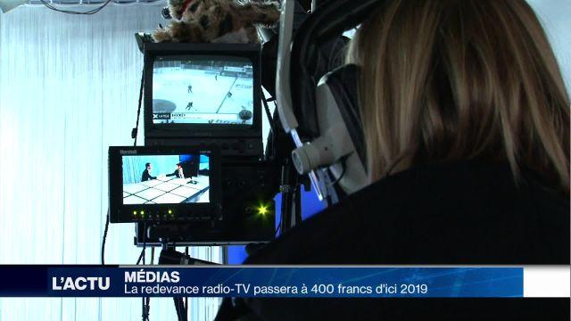 La redevance radio-TV passera à 400 francs d'ici 2019