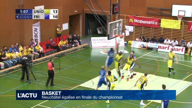 Neuchâtel égalise en finale du championnat contre Fribourg