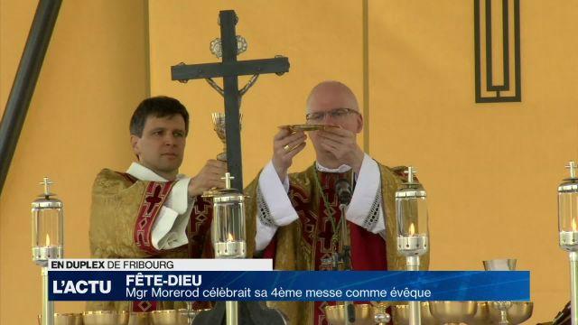 Mgr Morerod a célébré sa 4ème Fête Dieu en tant qu'évêque