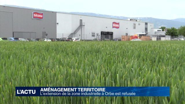 L'extension de la zone industrielle à Orbe est refusée