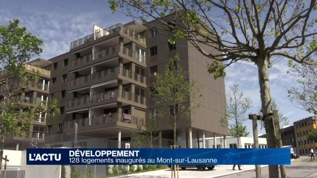 128 logements ont été inaugurés au Mont-sur-Lausanne