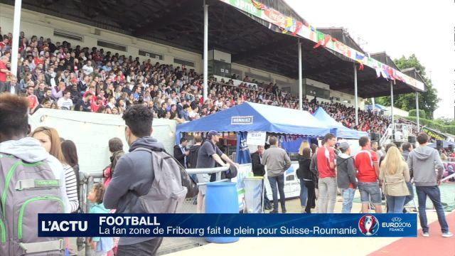 La fan zone de Fribourg fait le plein pour Suisse-Roumanie