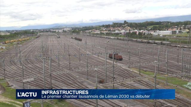 Le premier chantier lausannois de Léman 2030 va débuter