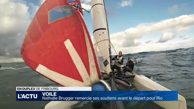 Nathalie Brugger remercie ses soutiens avant le départ à Rio