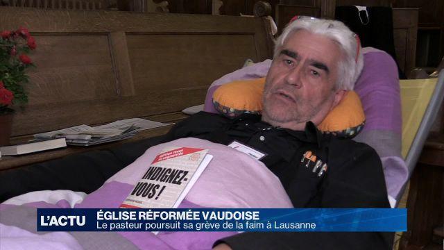 Le pasteur lausannois poursuit sa grève de la faim