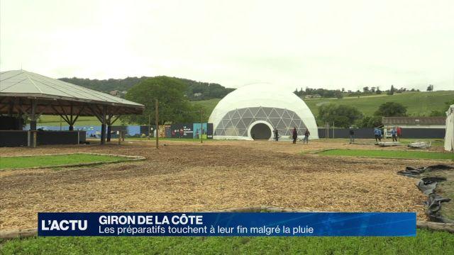 Les derniers préparatifs du Giron de La Côte sous la pluie