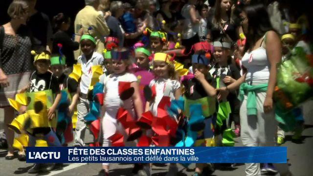 Les classes enfantines ont défilé en ville de Lausanne