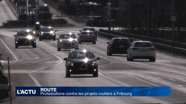 Protestations contre les projets routiers à Fribourg