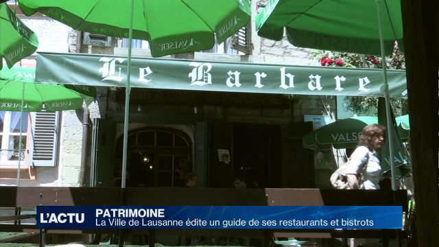 La Ville de Lausanne publie son guide des restaurants