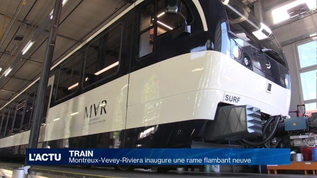 Montreux-Vevey-Riviera inaugure une rame flambant neuve