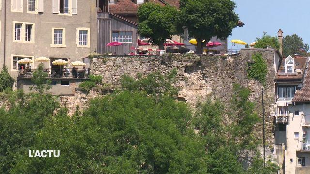 Une place publique fermée à Fribourg suite à un éboulement