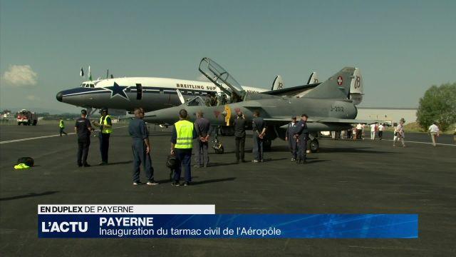 Inauguration du tarmac civil de l'Aéropôle