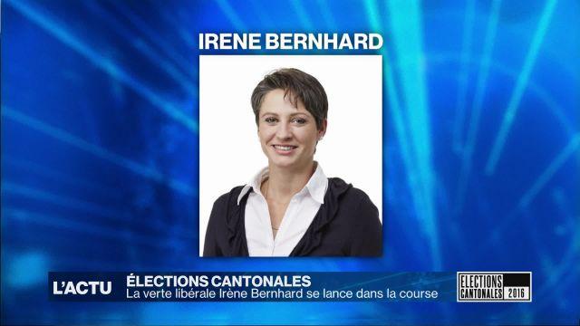 La verte libérale Irène Bernhard candidate au Conseil d'Etat