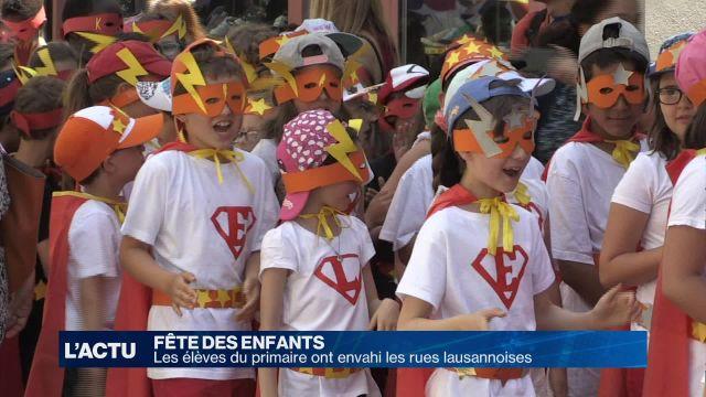 Des enfants costumés envahissent les rues lausannoises