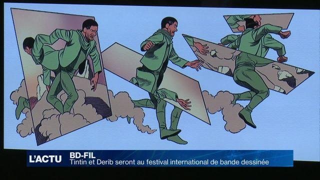 Tintin et Derib à la 12ème édition du BD FIL