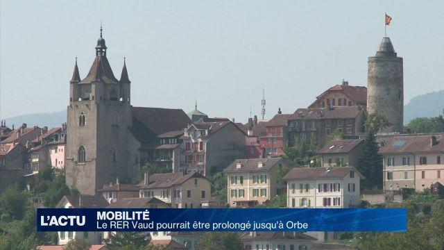 Le RER Vaud pourrait être prolongé jusqu'à Orbe (VD)