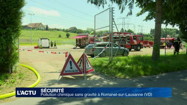 Pollution chimique sans gravité à Romanel-sur-Lausanne (VD)