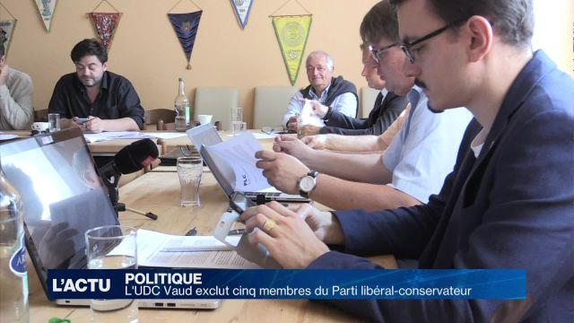 L'UDC Vaud exclut cinq membres du Parti libéral-conservateur