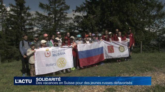 Des vacances en Suisse pour des jeunes russes défavorisés