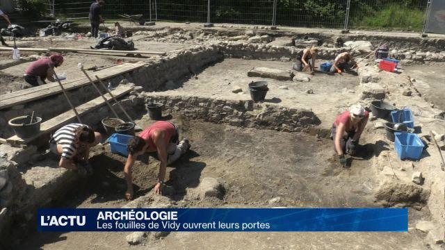 Les fouilles archéologiques de Vidy ouvertes au public