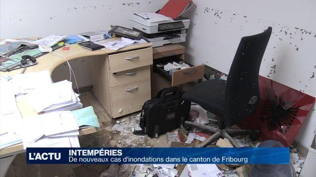 De nouvelles inondations dans le canton de Fribourg