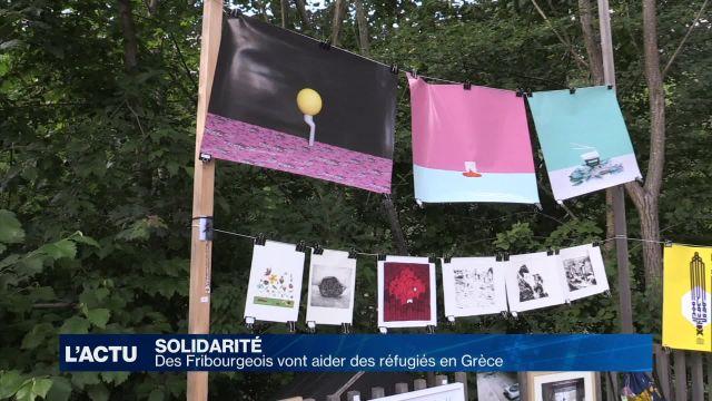 Des fribourgeois vont en aide aux réfugiés en Grèce