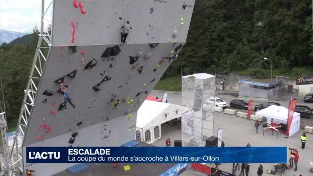 La coupe du monde d'escalade à Villars-sur-Ollon