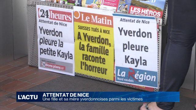 Attentat de Nice: deux Yverdonnoises parmi les victimes